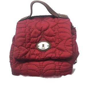 FOSSIL Red Jewlery/Make-up Travel Organizer